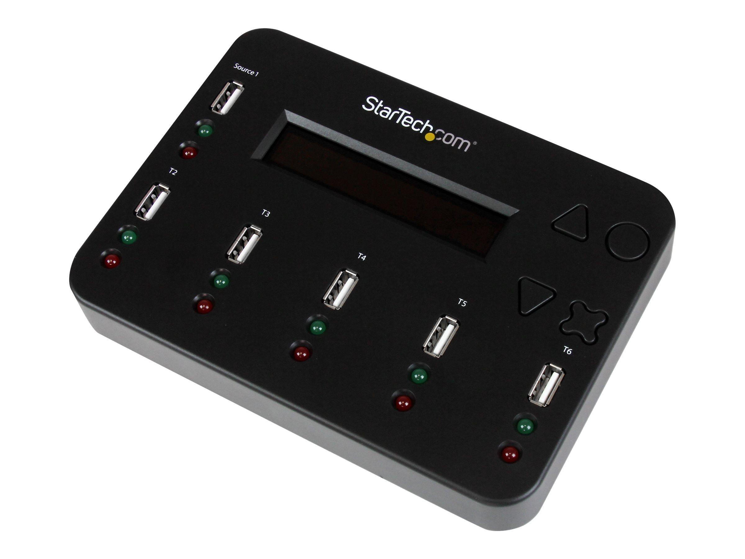 StarTech.com 1:5 Standalone USB Flash Drive Duplikator und Eraser-1 zu 5 Flash Drive Kopierer & Sanitizer - USB-Disk-Duplikator