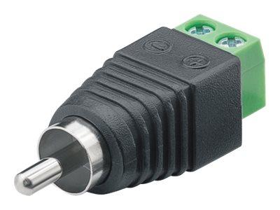M-CAB - Video-/Audioanschluss - RCA (M) bis 2-polige Klemmleiste schraubbar (Packung mit 10)