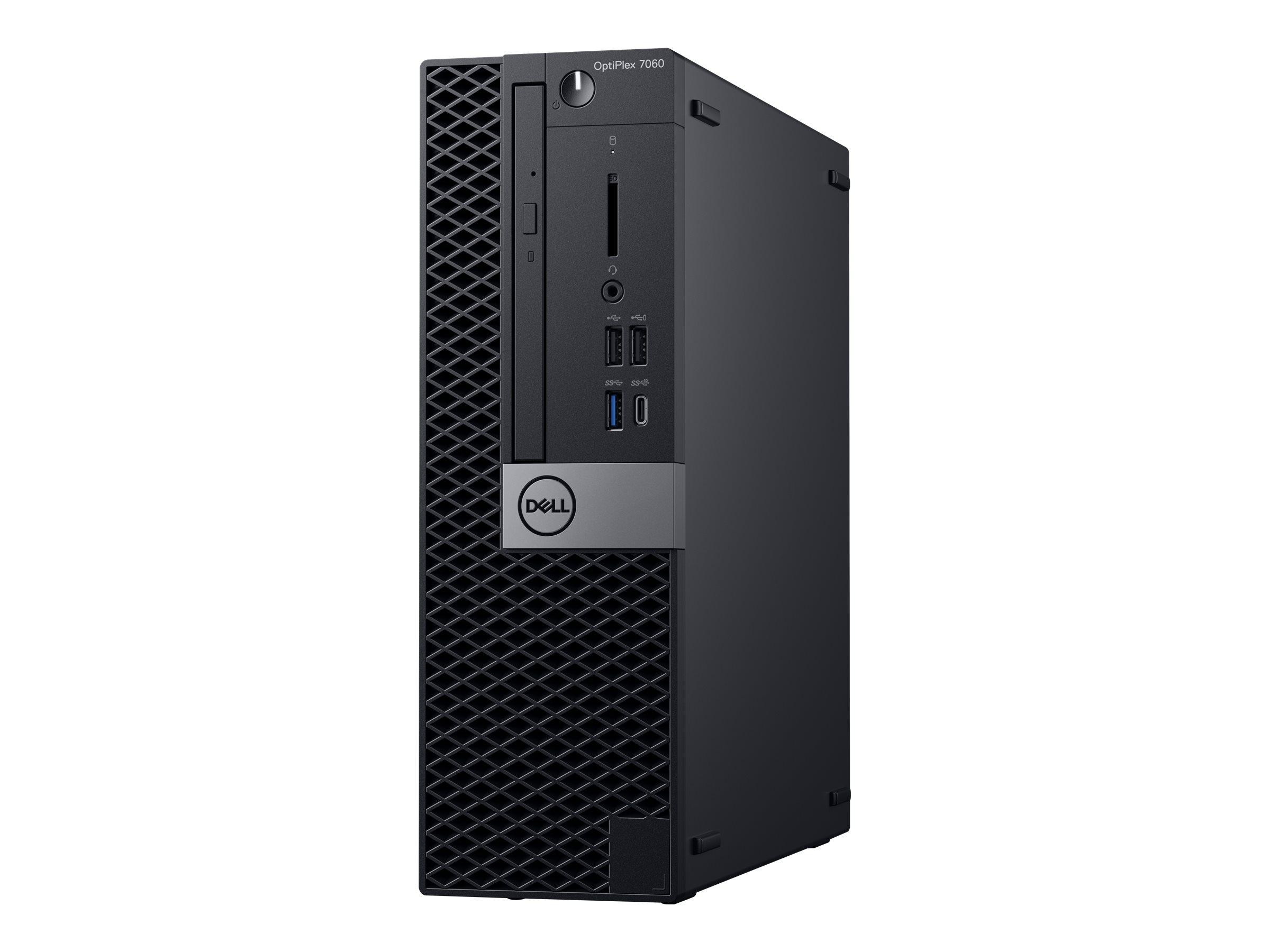 Dell OptiPlex 7060 - SFF - 1 x Core i7 8700 / 3.2 GHz - RAM 8 GB - SSD 256 GB - DVD-Writer