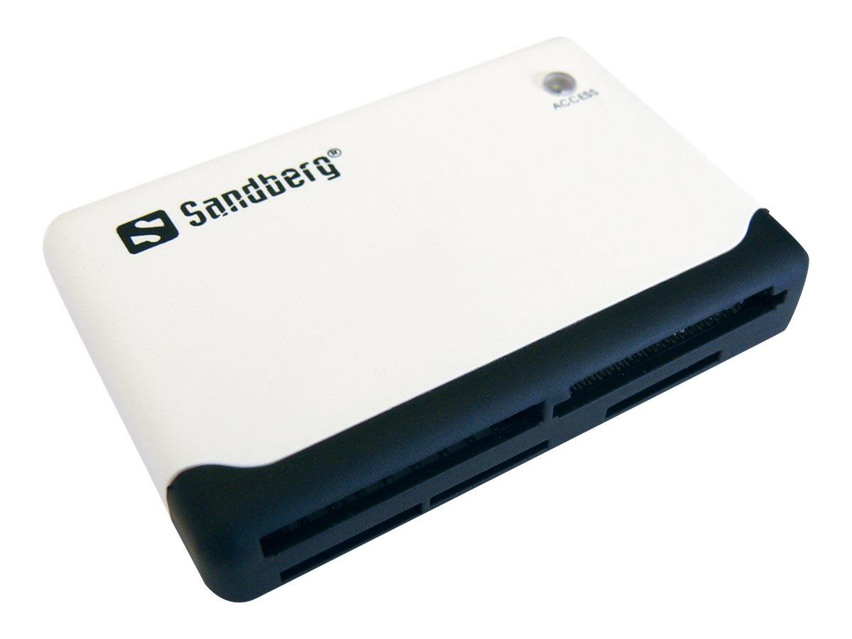 Sandberg Multi Card Reader - Kartenleser (MS, MMC, SD, xD, CF, TransFlash, microSD, SDHC, MS Micro) - USB 2.0
