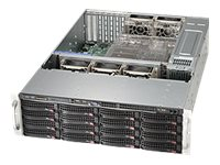 Supermicro SC836 BE1C-R1K03B - Rack-Montage - 3U - verbessertes, erweitertes ATX - SATA/SAS - Hot-Swap 1000 Watt