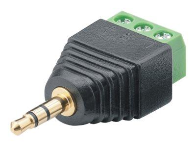 M-CAB - Audio-Stecker - Stereo Mini-Klinkenstecker (M) bis 3-poliger Anschlussblock schraubbar (Packung mit 10)