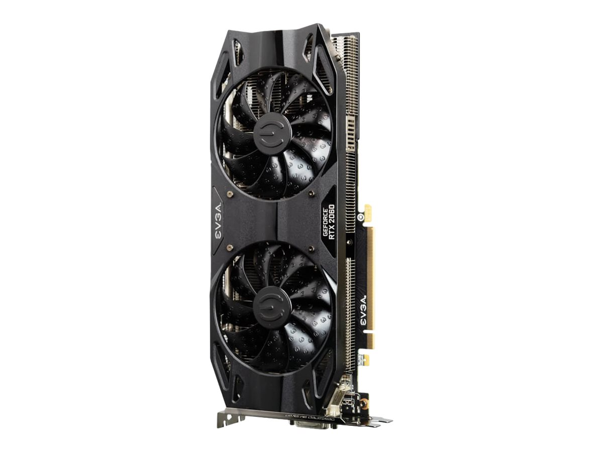 EVGA GeForce RTX 2060 XC Ultra Black - Grafikkarten - GF RTX 2060 - 6 GB GDDR6 - PCIe 3.0 x16 - DVI, HDMI, 2 x DisplayPort