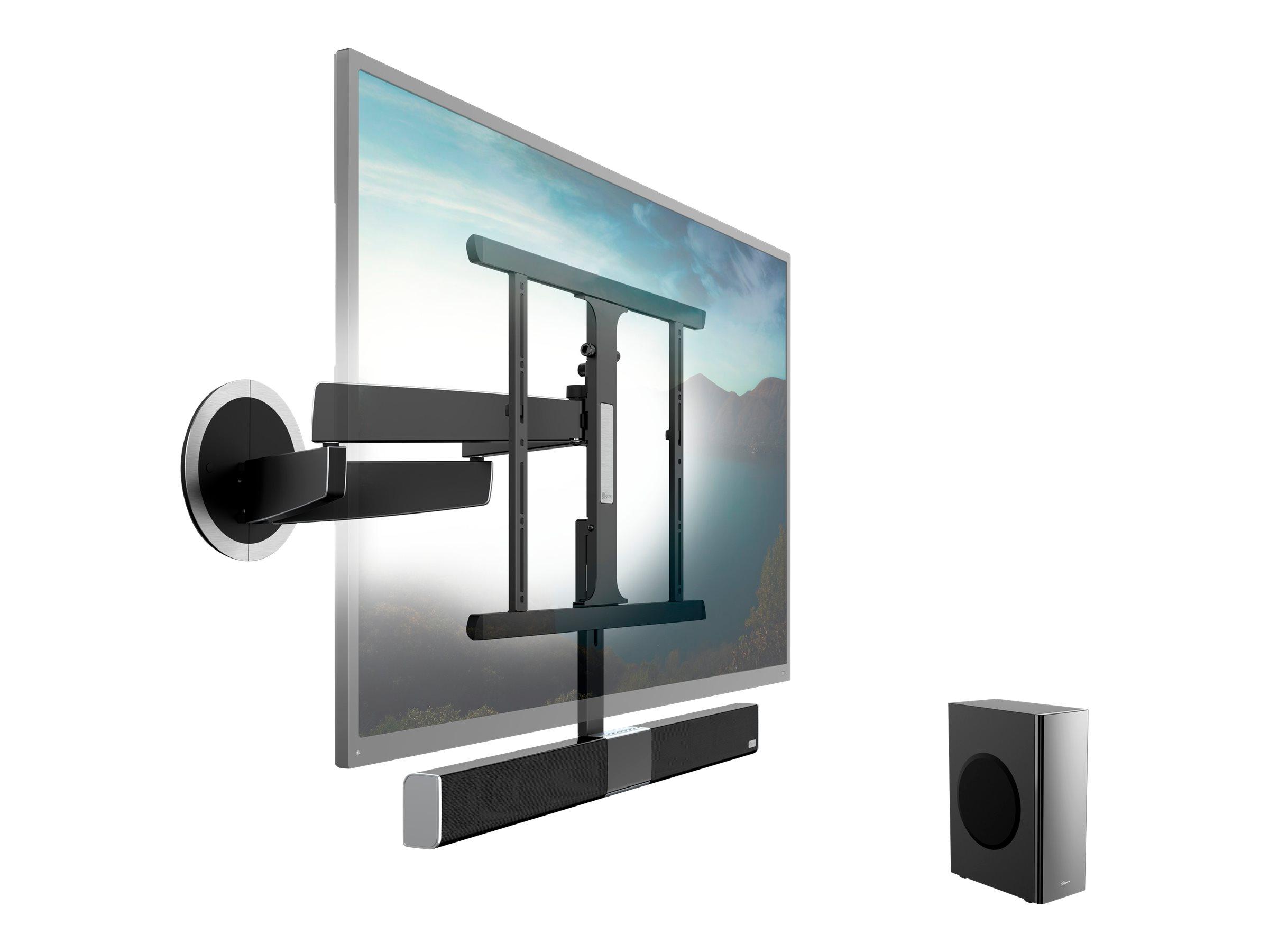 Vogel's SoundMount NEXT 8365 - Befestigungskit (voll bewegliche Wandhalterung) für flat panel - Aluminium, Chrom - Schwarz - Bil