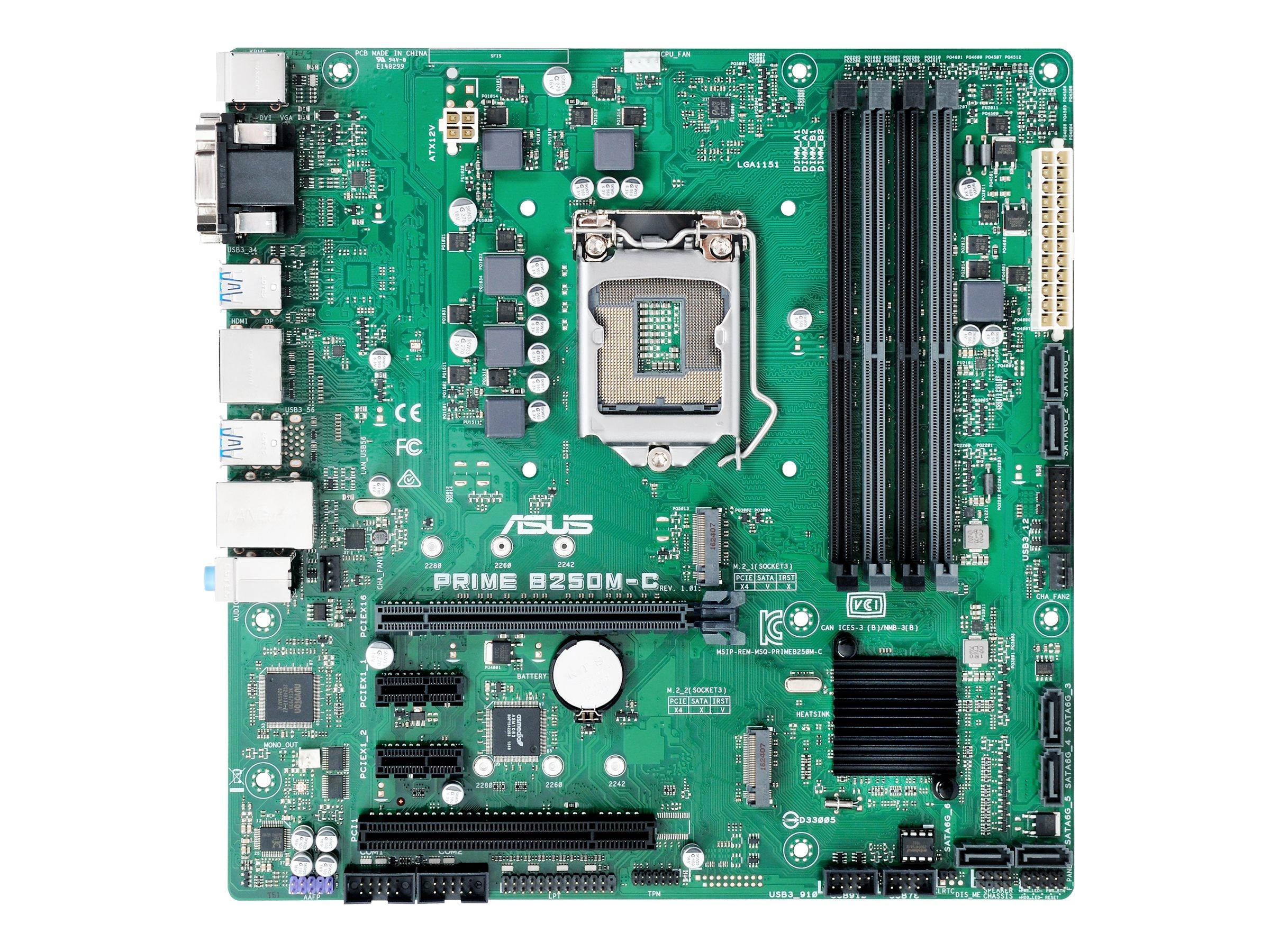 ASUS PRIME B250M-C/CSM - Motherboard - micro ATX - LGA1151 Socket - B250 - USB 3.0