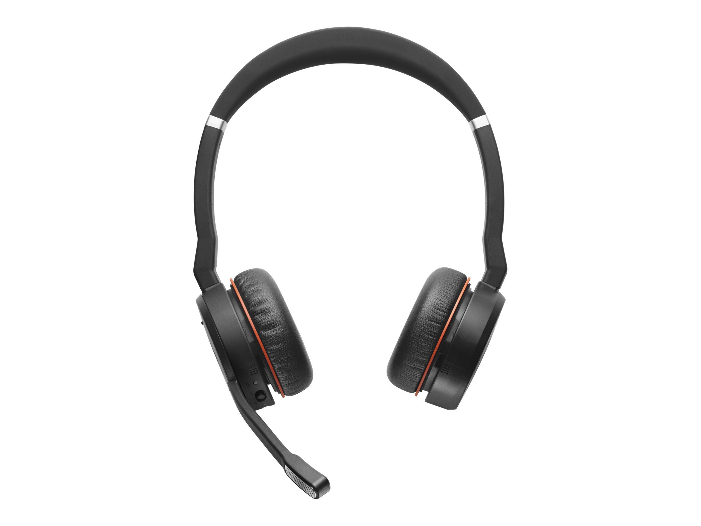 Jabra Evolve 75 MS Stereo - Headset - On-Ear - Bluetooth - kabellos - aktive Rauschunterdrückung
