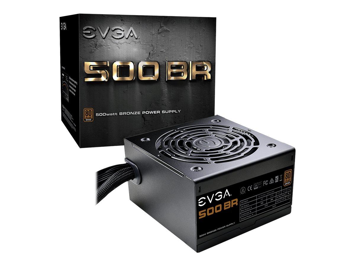 EVGA 500 BR - Netzteil (intern) - ATX12V / EPS12V - 80 PLUS Bronze - Wechselstrom 100-240 V - 500 Watt