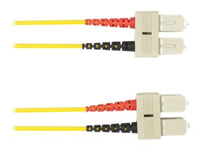 Black Box - Patch-Kabel - SC Single-Modus (M) bis SC Single-Modus (M) - 2 m - Glasfaser - Gelb