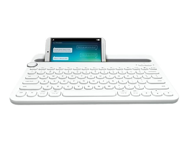Logitech Multi-Device K480 - Tastatur - Bluetooth - US International - weiss