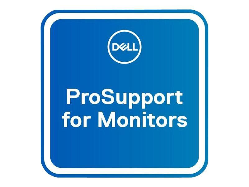 Dell Upgrade to 3Y ProSupport for monitors - Serviceerweiterung - Austausch - 3 Jahre - Lieferung - Reaktionszeit: am nächsten A