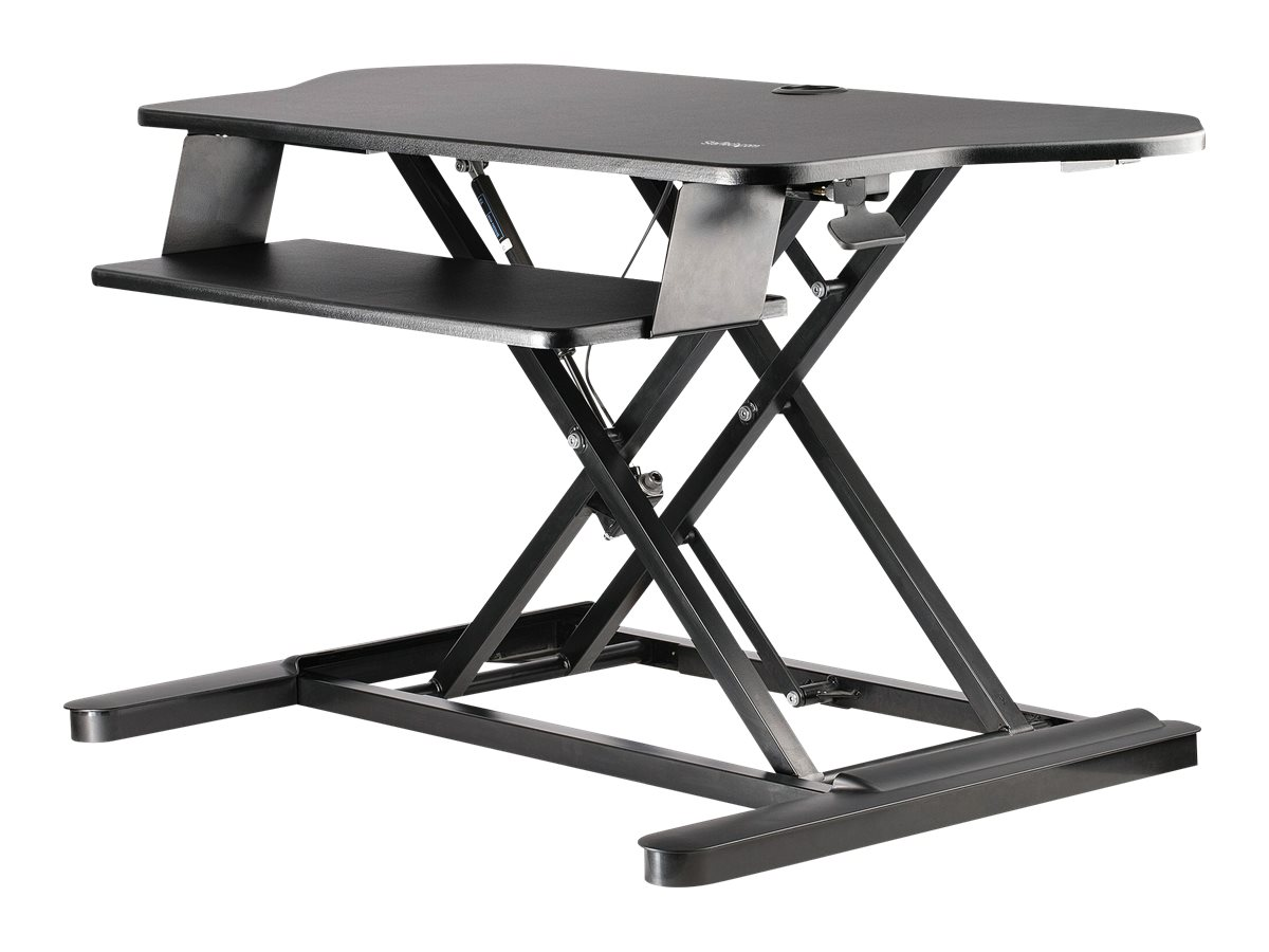 StarTech.com Corner Sit Stand Desk Converter with Keyboard Tray - Large Surface (35