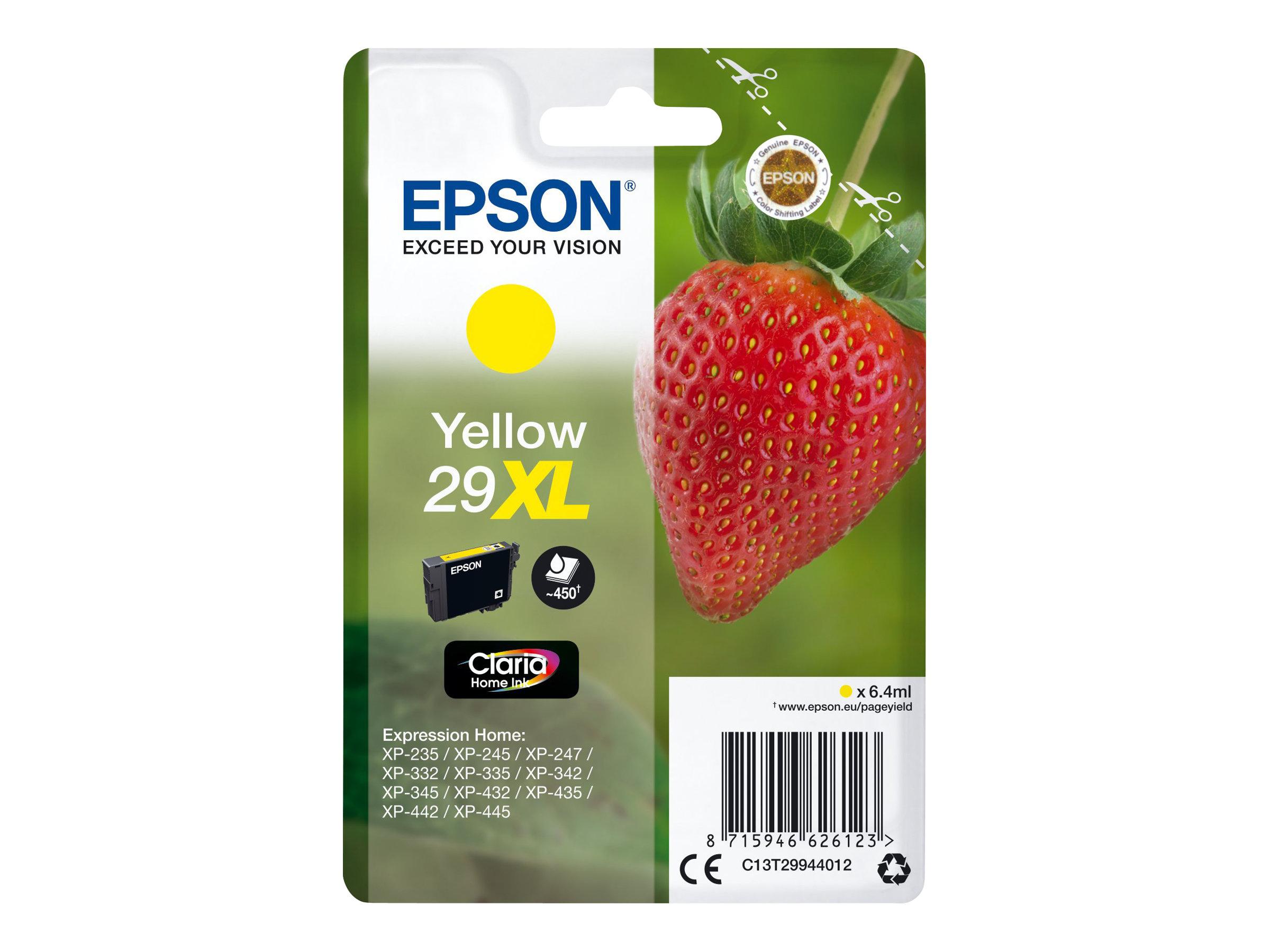 Epson 29XL - 6.4 ml - XL - Gelb - Original - Blisterverpackung