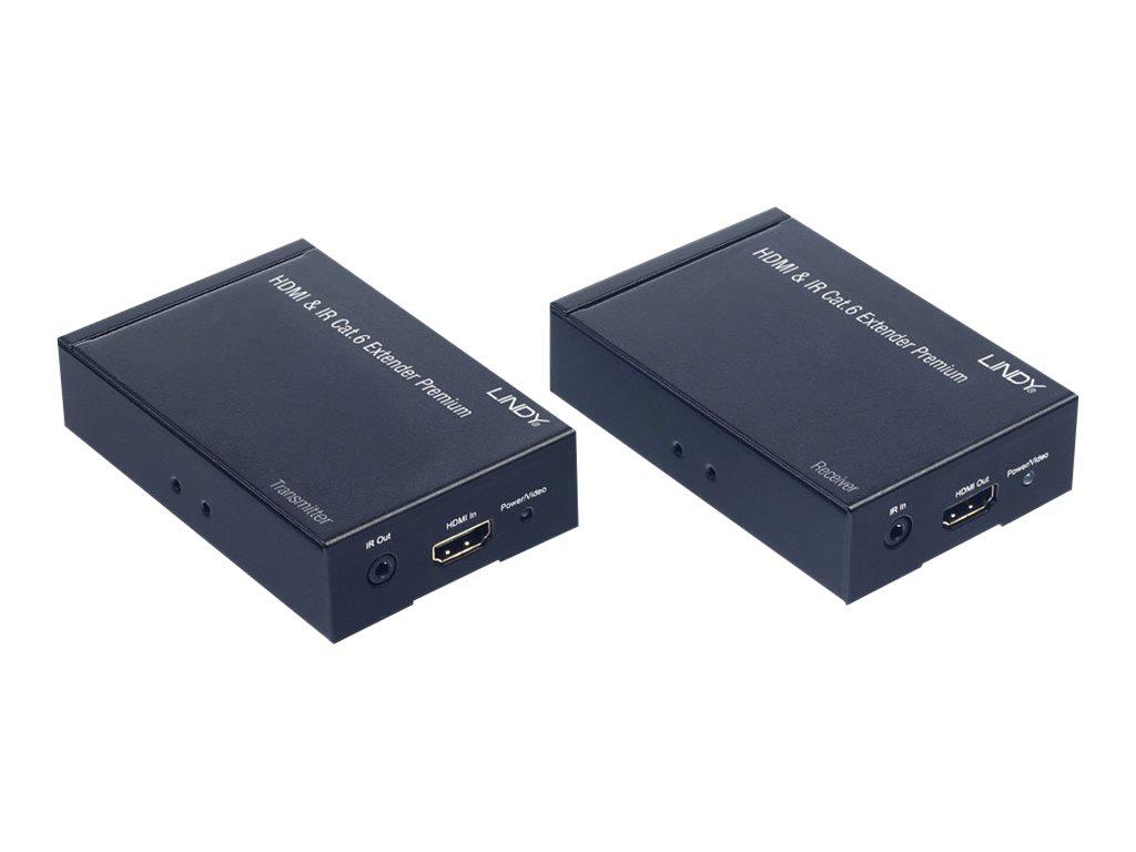 LINDY HDMI & IR CAT6 Extender Premium - Video-/Audio-/Infrarot-Übertrager - HDMI - bis zu 100 m