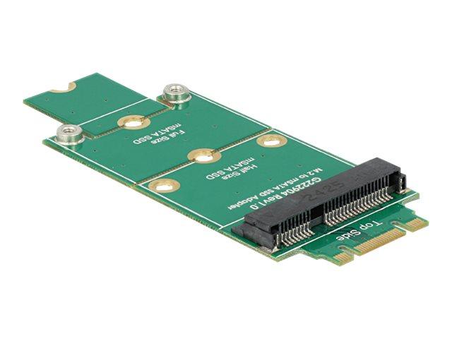 Delock Adapter mSATA > M.2 NGFF - Speicher-Controller - mSATA - mSATA - M.2 Card