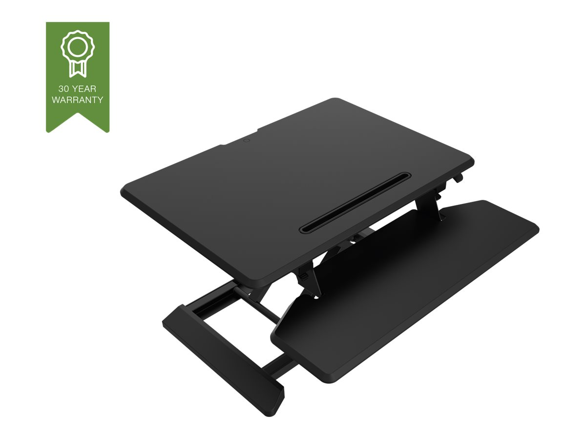 Vision VSS-1 Sit-Stand Desk Riser - Grösse S - Aufstellung für LCD-Bildschirm / Tastatur / Maus / Tablet - Stahl - Schwarz/Dunke