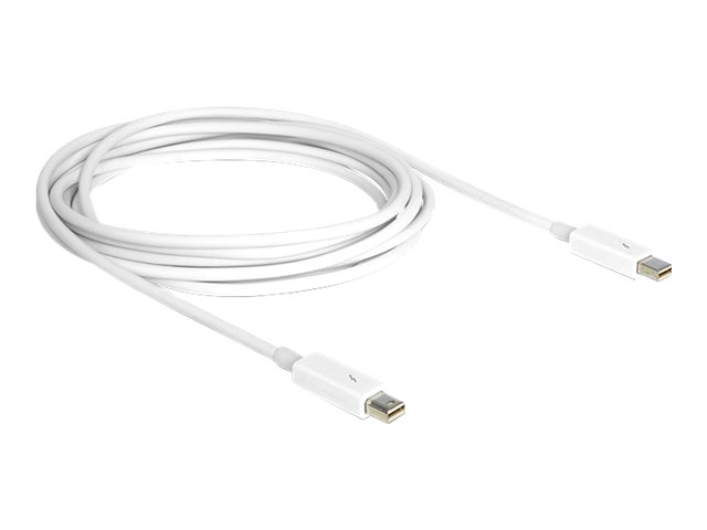 DeLOCK - Thunderbolt-Kabel - Mini DisplayPort (M) bis Mini DisplayPort (M) - Thunderbolt 2 - 3 m - weiss