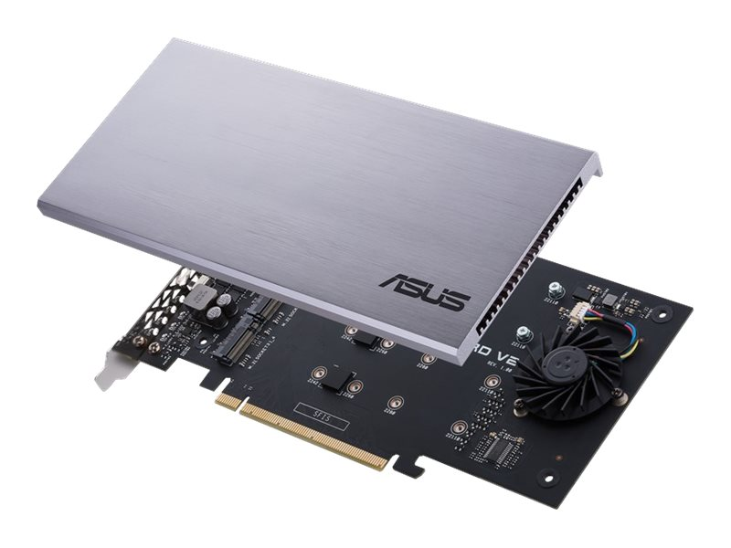 ASUS HYPER M.2 X16 CARD V2 - Schnittstellenadapter - M.2 - Expansion Slot to M.2 - M.2 Card - 128 Gbit/s