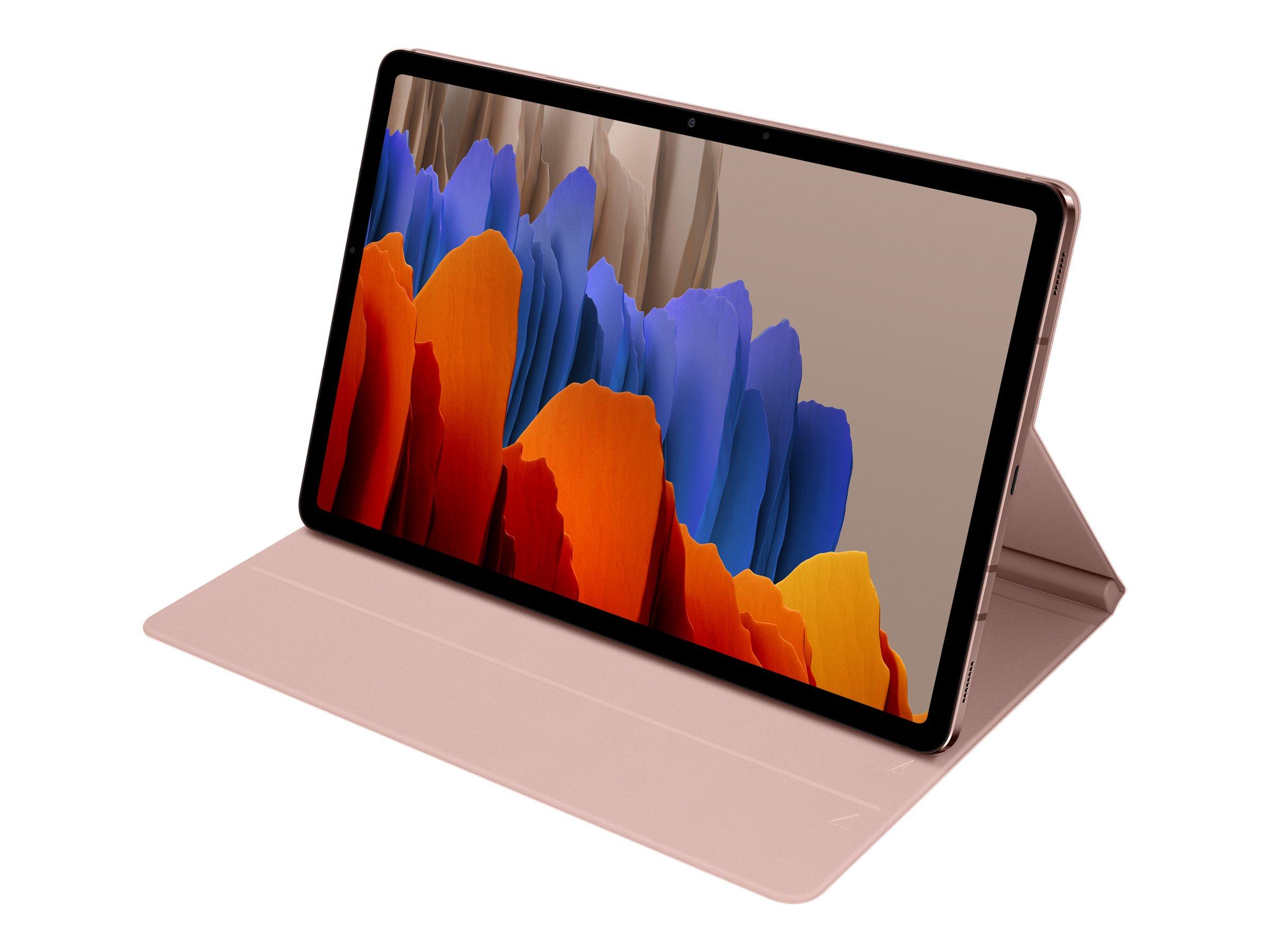 Samsung Book Cover EF-BT870 - Flip-Hülle für Tablet - Mystic Bronze - für Galaxy Tab S7