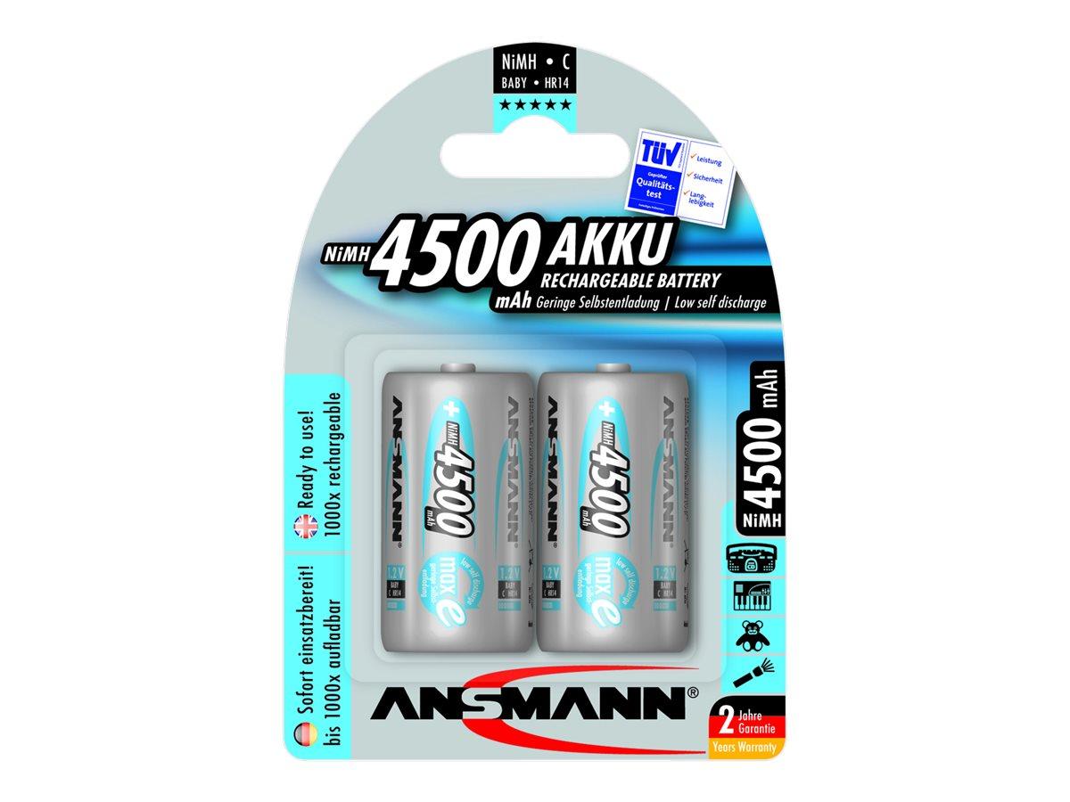 ANSMANN PREMIUM Baby C - Batterie 2 x HR14 - NiMH - 4500 mAh