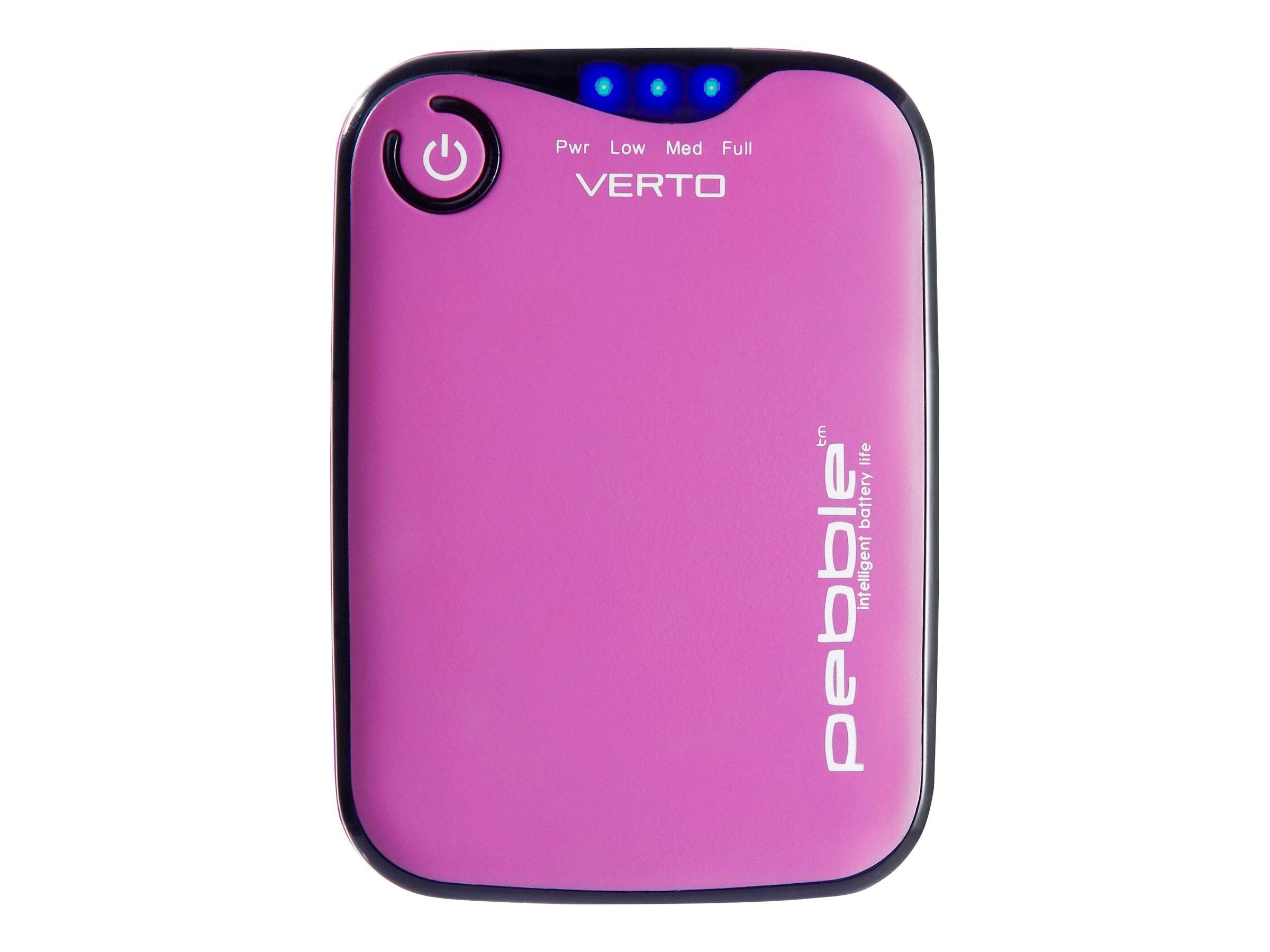Veho Pebble Verto - Powerbank - 3700 mAh - 1000 mA (USB) - pink
