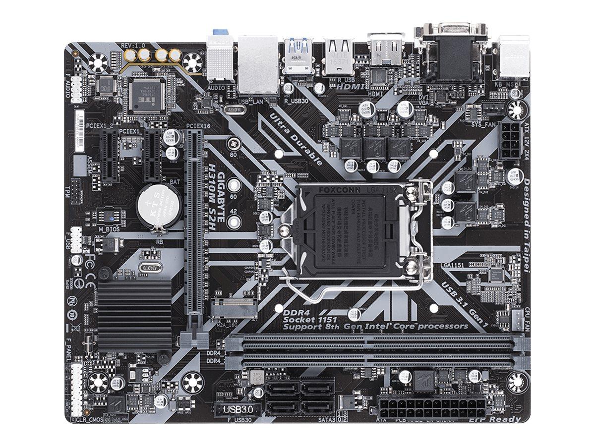 Gigabyte H310M S2H - 1.0 - Motherboard - micro ATX - LGA1151 Socket - H310