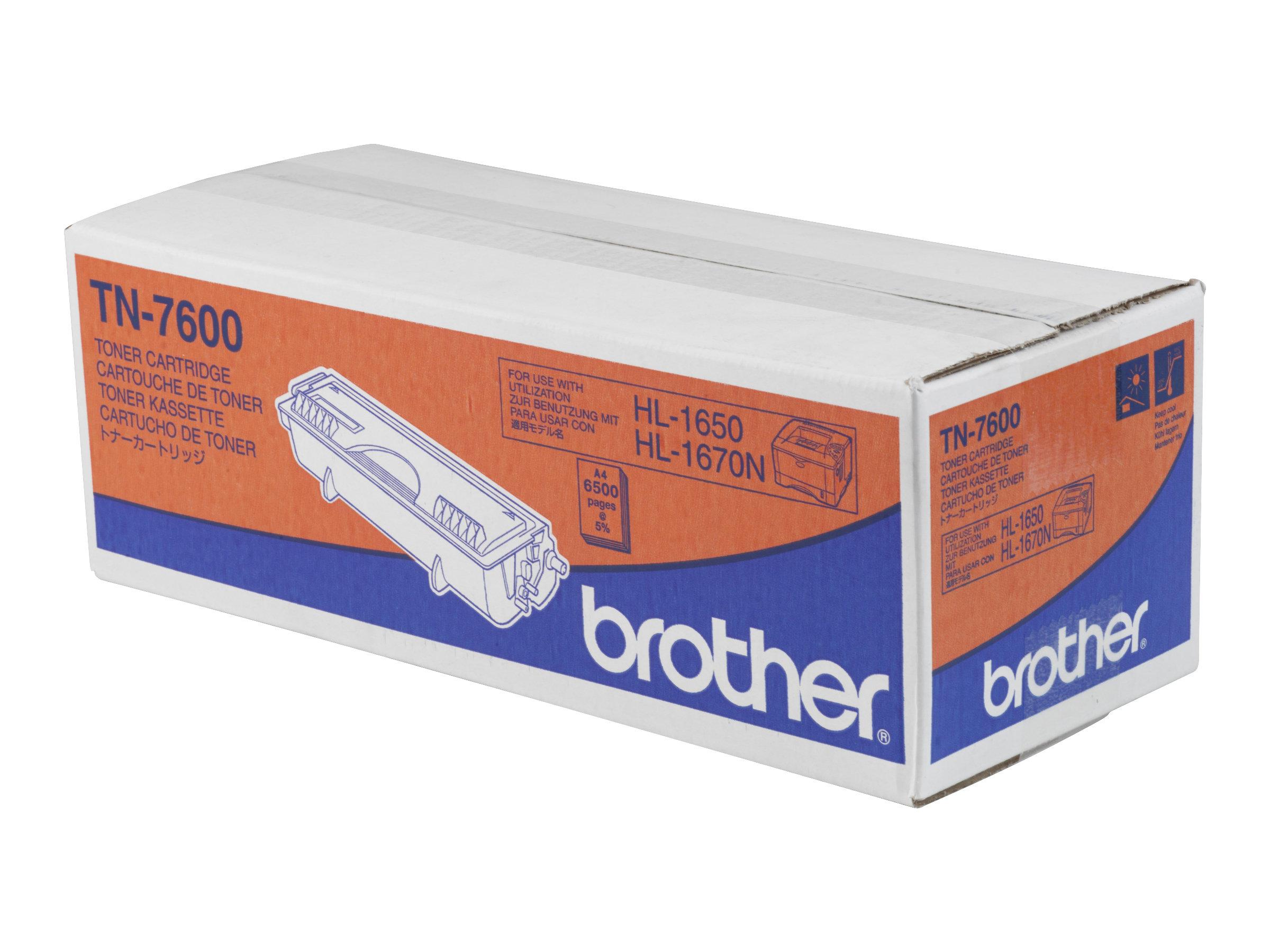 Brother TN7600 - Schwarz - Original - Tonerpatrone - für Brother DCP-8020, 8025, HL-1650, 1670, 1850, 1870, 5030, 5040, 5050, 50
