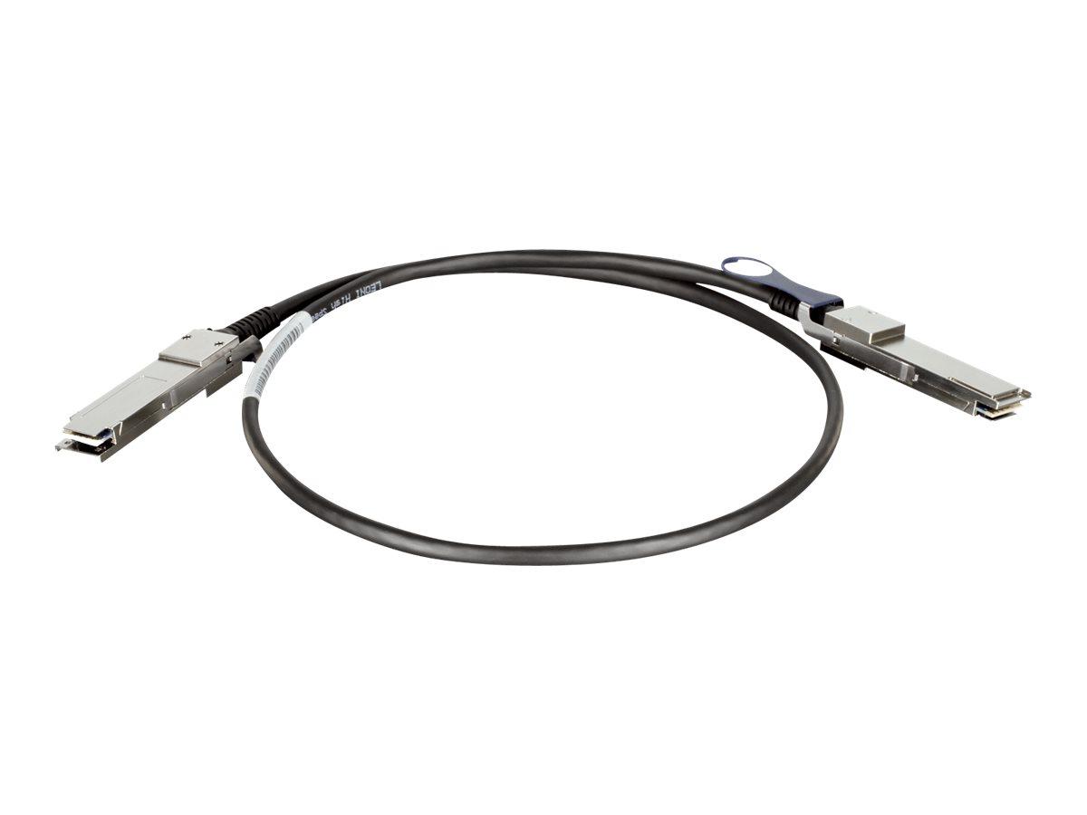 D-Link Direct Attach Cable - Direktanschlusskabel - QSFP+ bis QSFP+ - 1 m - twinaxial