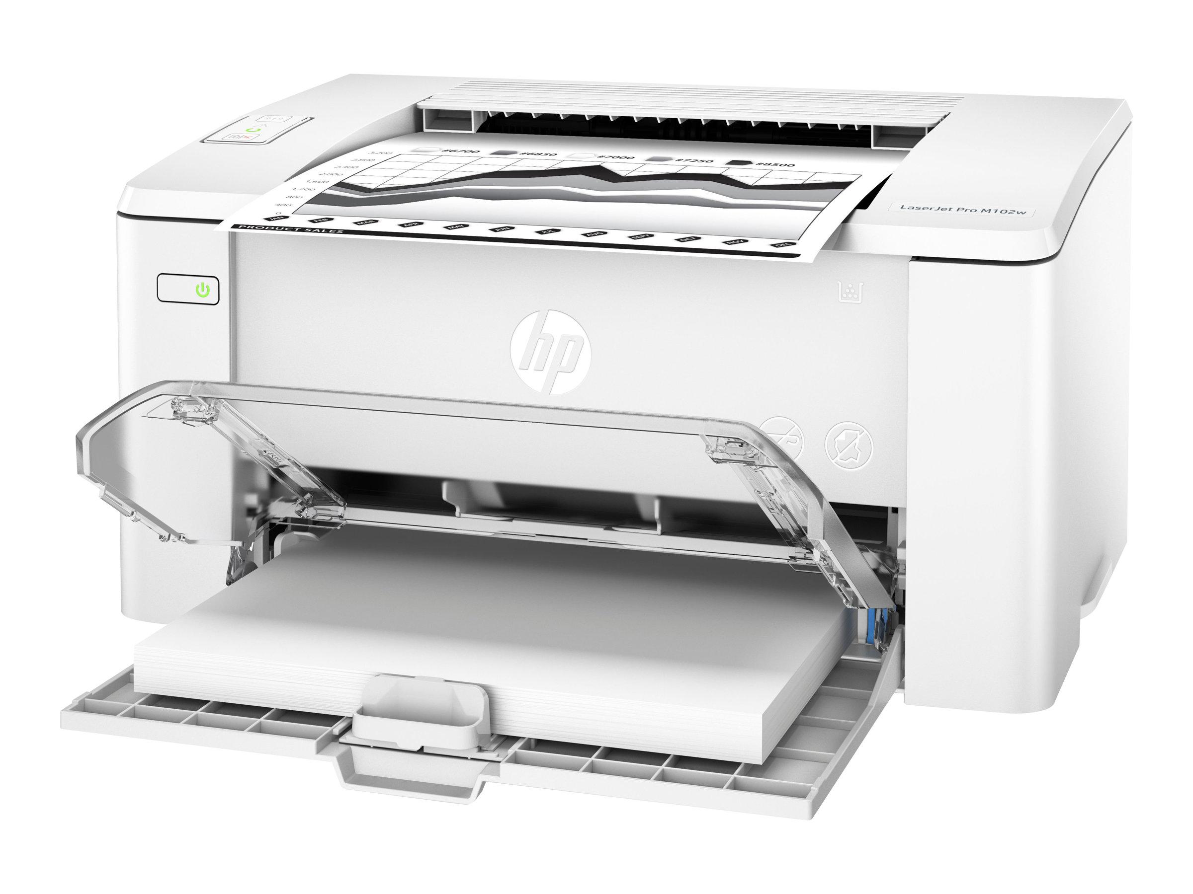HP LaserJet Pro M102w - Drucker - monochrom - Laser - A4/Legal - 1200 dpi
