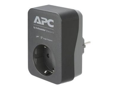 APC Essential Surgearrest PME1WB-GR - Überspannungsschutz - Wechselstrom 220/230/240 V - 4000 Watt - Ausgangsanschlüsse: 1 - Deu