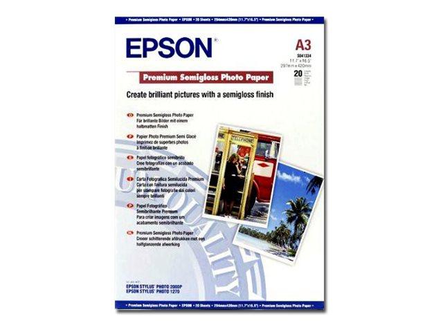Epson Premium - Halbglänzend - A3 (297 x 420 mm) - 251 g/m² - 20 Blatt Fotopapier - für Expression Photo XP-970; SureColor P5000