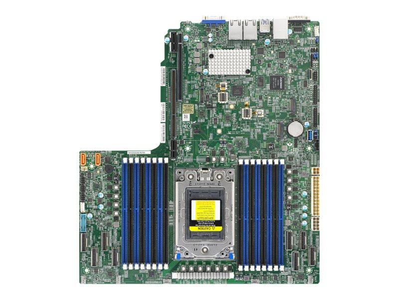 SUPERMICRO H12SSW-NTR - Motherboard - Socket SP3 - USB 3.0 - 2 x 10 Gigabit LAN - Onboard-Grafik