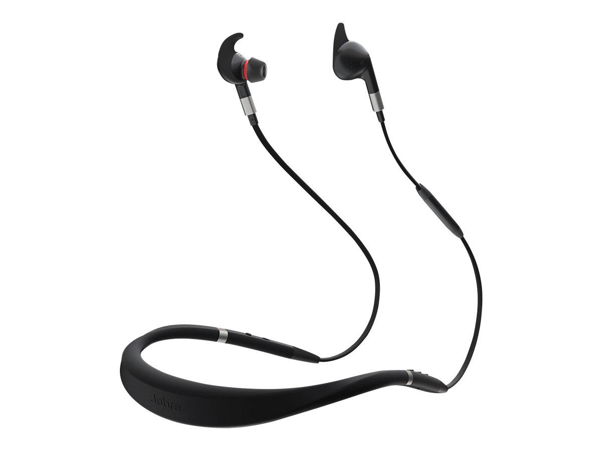 Jabra Evolve 75e MS - Ohrhörer mit Mikrofon - im Ohr - hinter dem Nacken angebracht - Bluetooth - kabellos