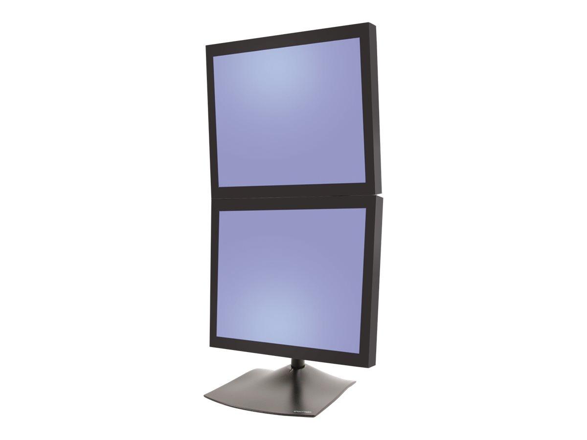 Ergotron DS100 Dual-Monitor Desk Stand, Vertical - Aufstellung - für 2 LCD-Displays - Stahl, langlebiges Aluminium - Schwarz - B