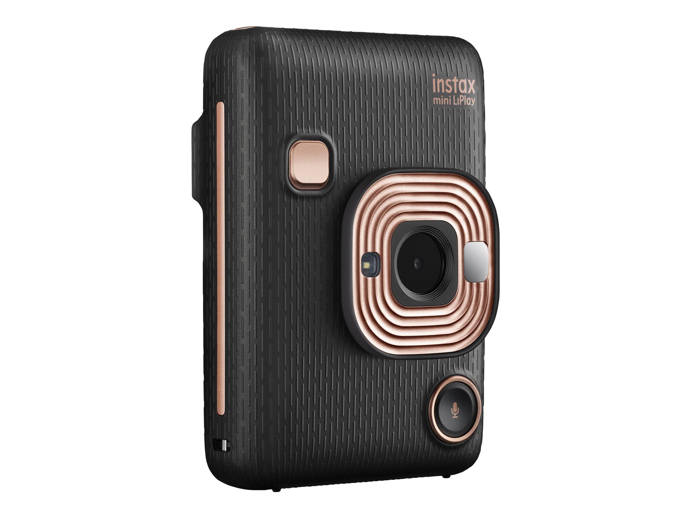 Fujifilm Instax Mini LiPlay - Digitalkamera - Kompaktkamera mit PhotoPrinter - Elegant Black