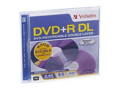 Verbatim - DVD+R DL - 8.5 GB 2.4x - Jewel Case (Schachtel)
