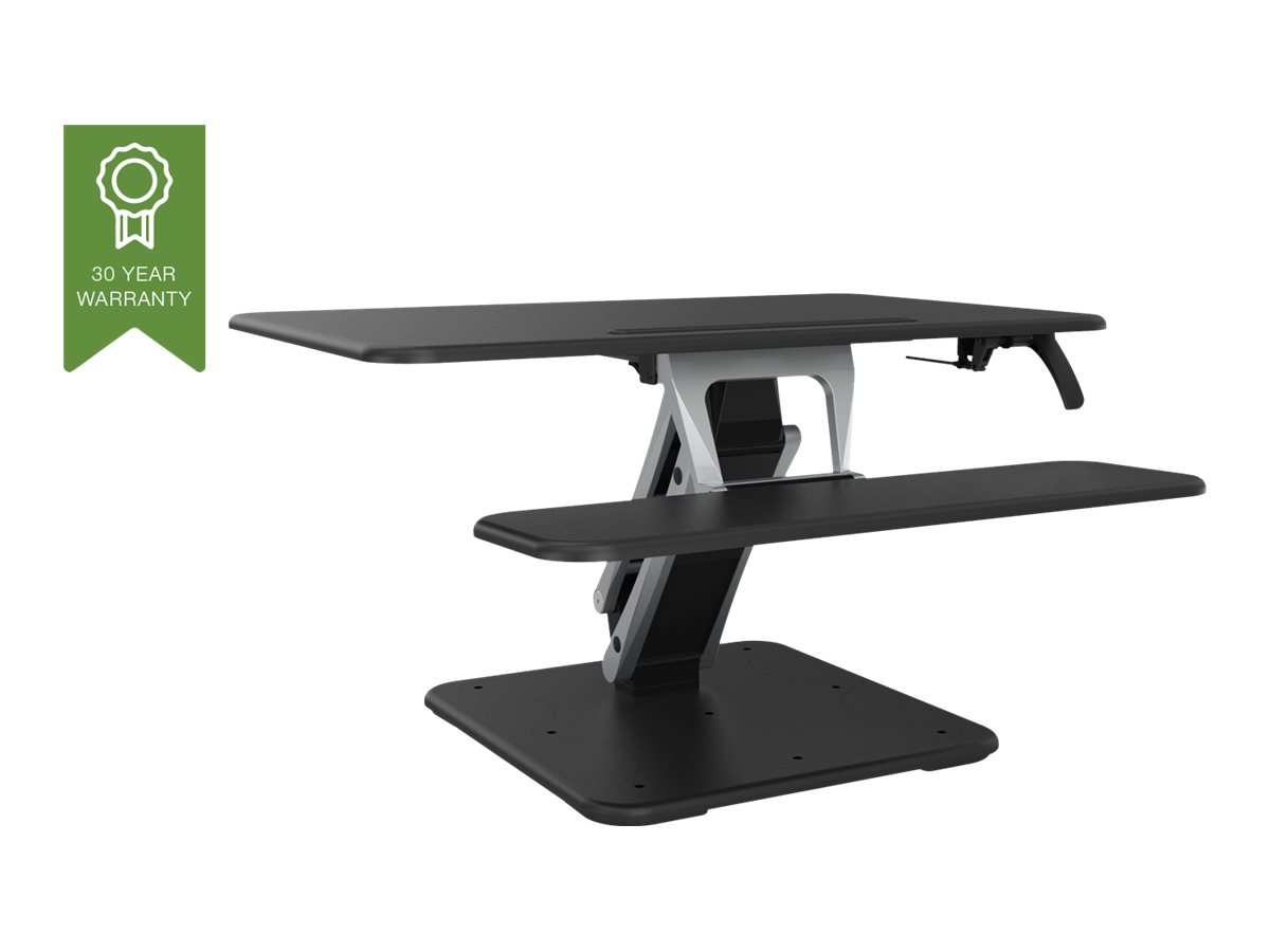 Vision VSS-2 Sit-Stand Desk Riser - Grösse M - Aufstellung für LCD-Bildschirm / Tastatur / Maus / Tablet - Aluminium, Stahl - Sc