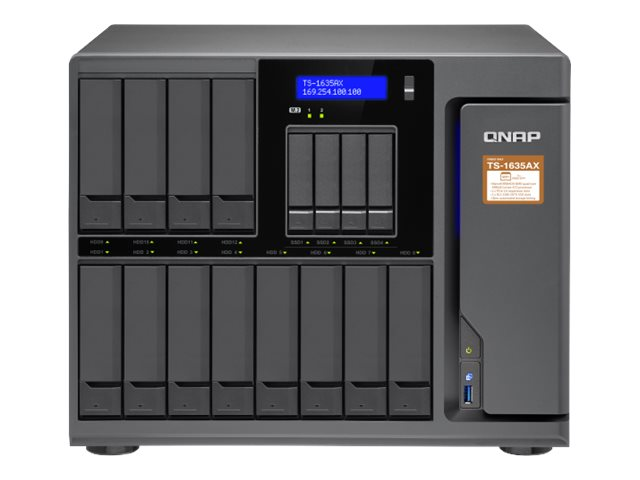 QNAP TS-1635AX - NAS-Server - 16 Schächte - SATA 6Gb/s - RAID 0, 1, 5, 6, 10, 50, JBOD, 60 - RAM 4 GB