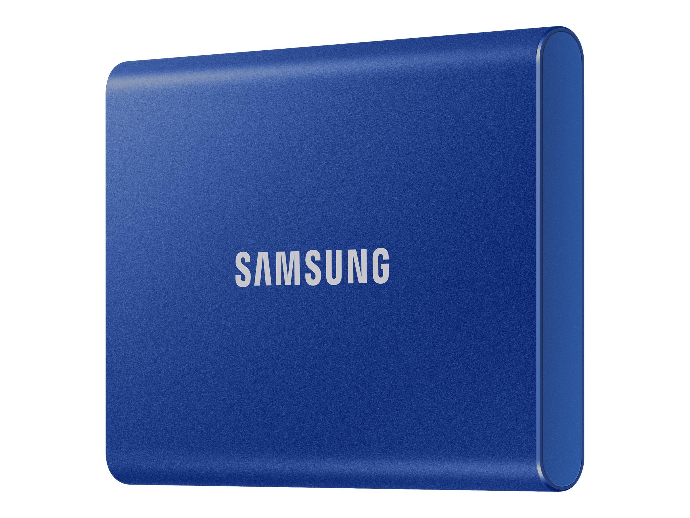 Samsung T7 MU-PC500H - Solid-State-Disk - verschlüsselt - 500 GB - extern (tragbar) - USB 3.2 Gen 2 (USB-C Steckverbinder)