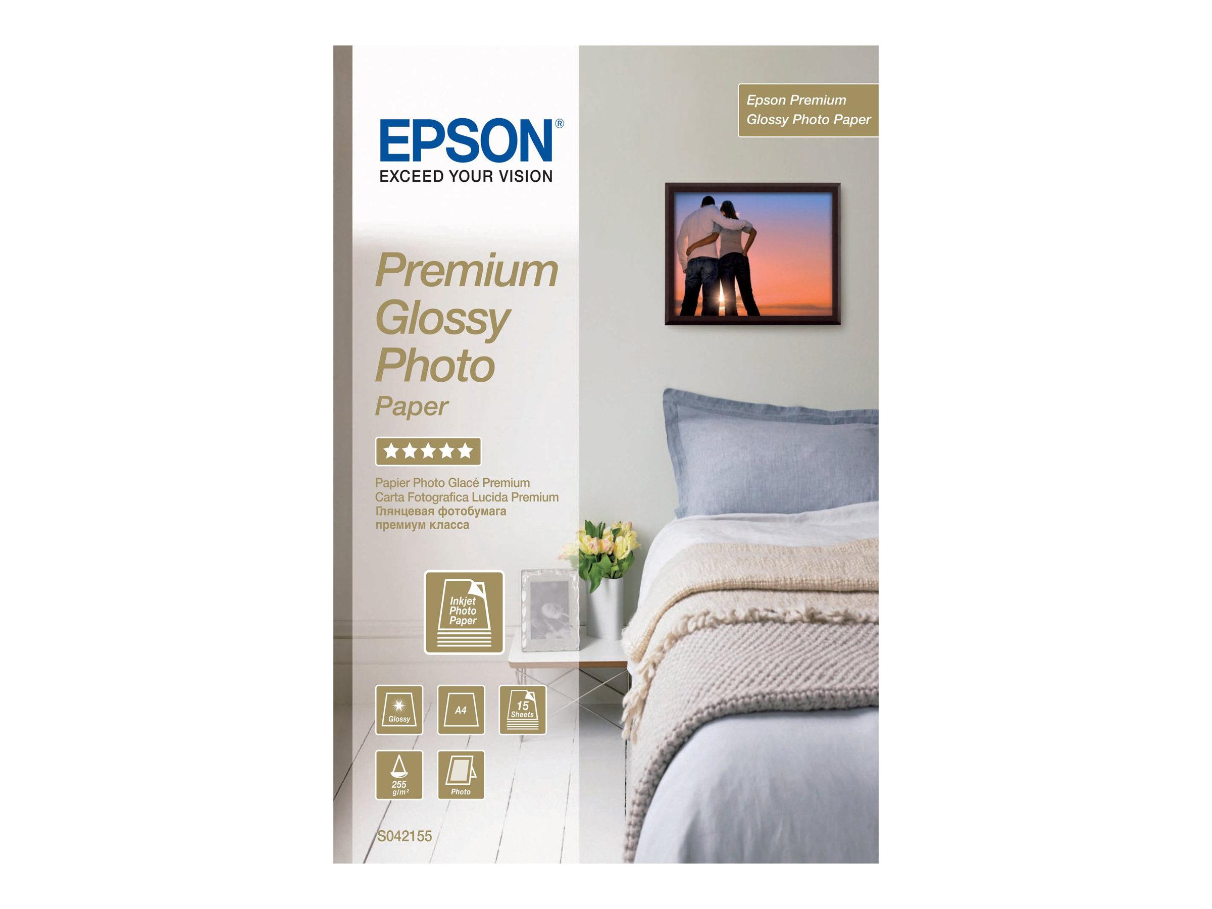 Epson Premium Glossy Photo Paper - Glänzend - A4 (210 x 297 mm) 15 Blatt Fotopapier - für EcoTank ET-2650, 2751, 2756; Expressio
