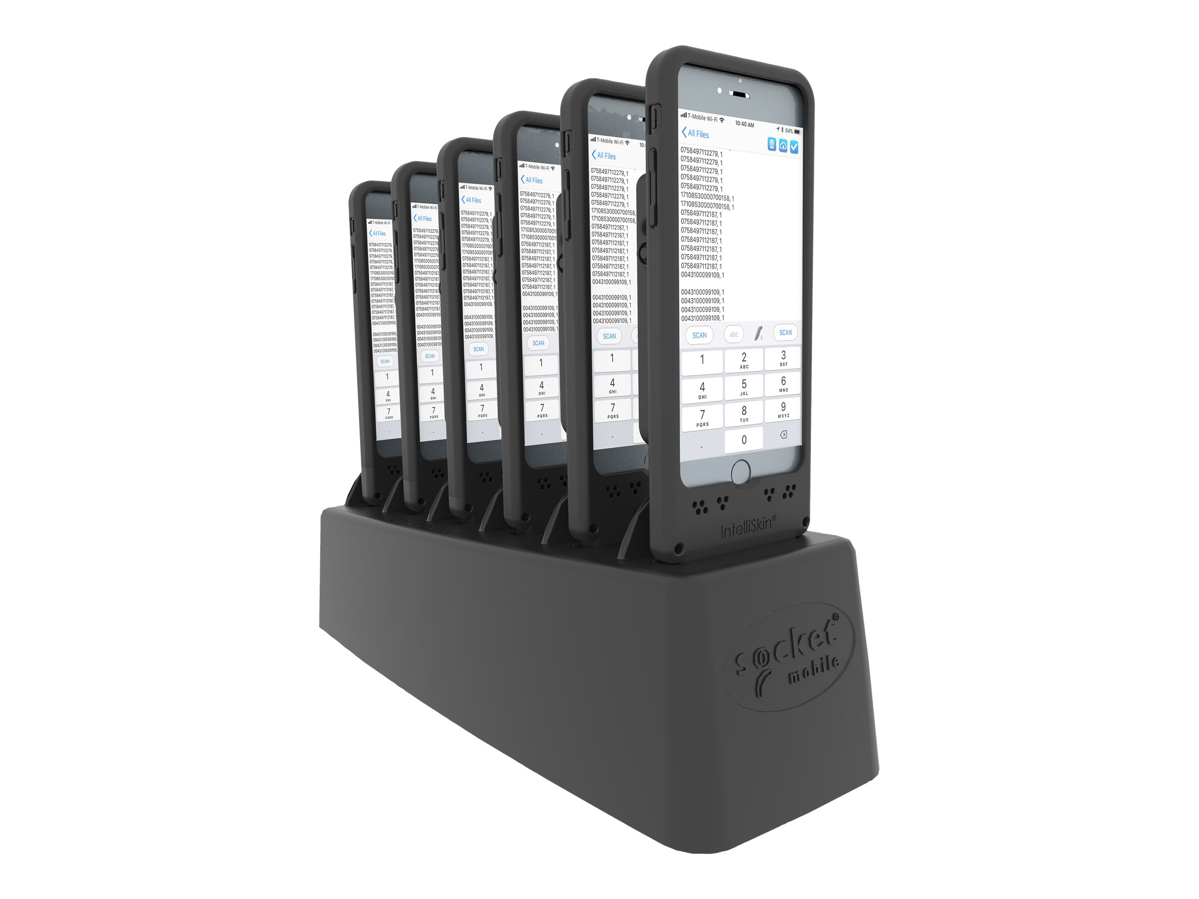 DuraSled DS840 - With 6 Bay Charger - Barcode-Scanner - Begleiter - 2D-Imager - decodiert