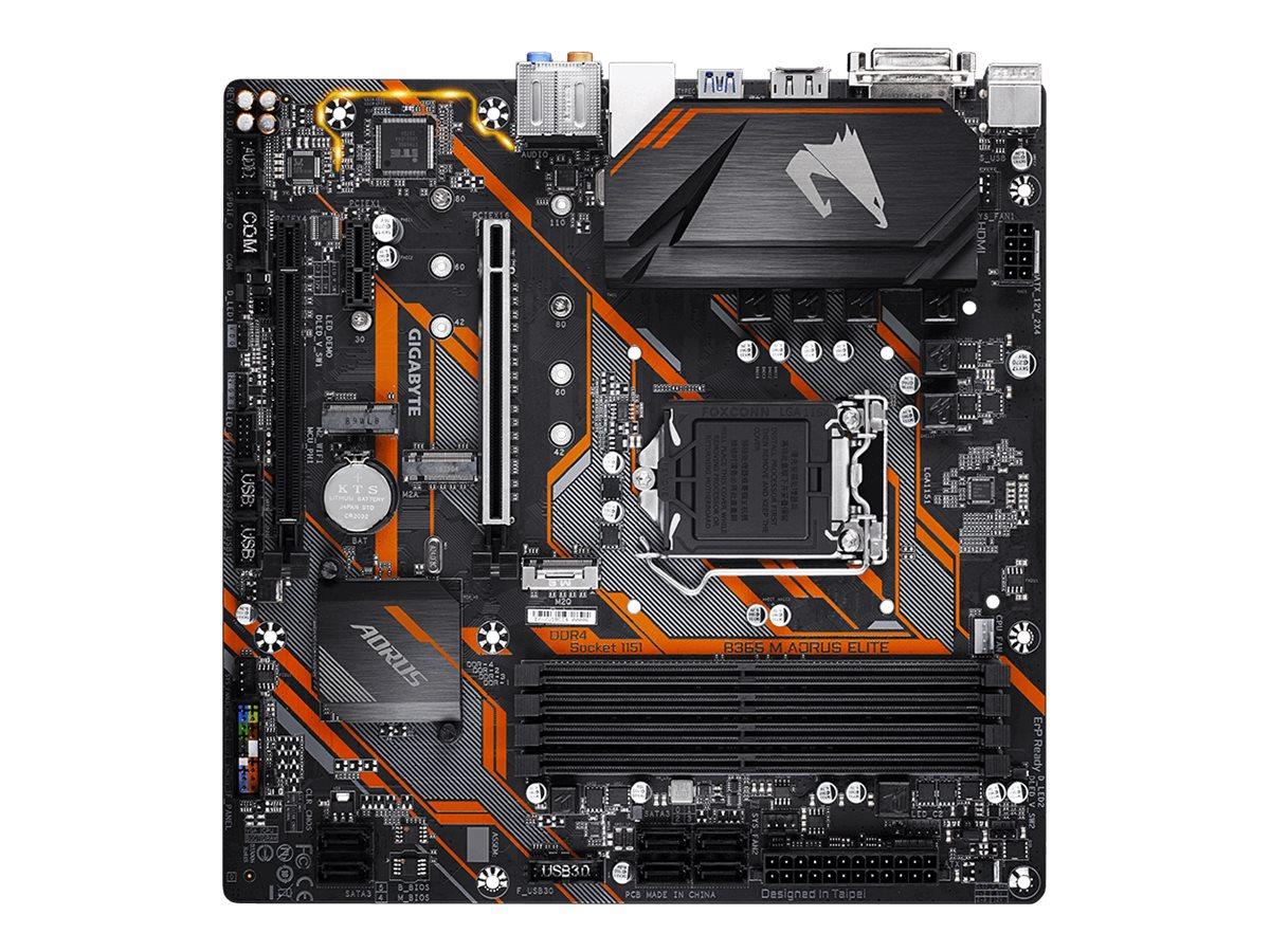 Gigabyte B365 M AORUS ELITE - 1.0 - Motherboard - micro ATX - LGA1151 Socket - B365