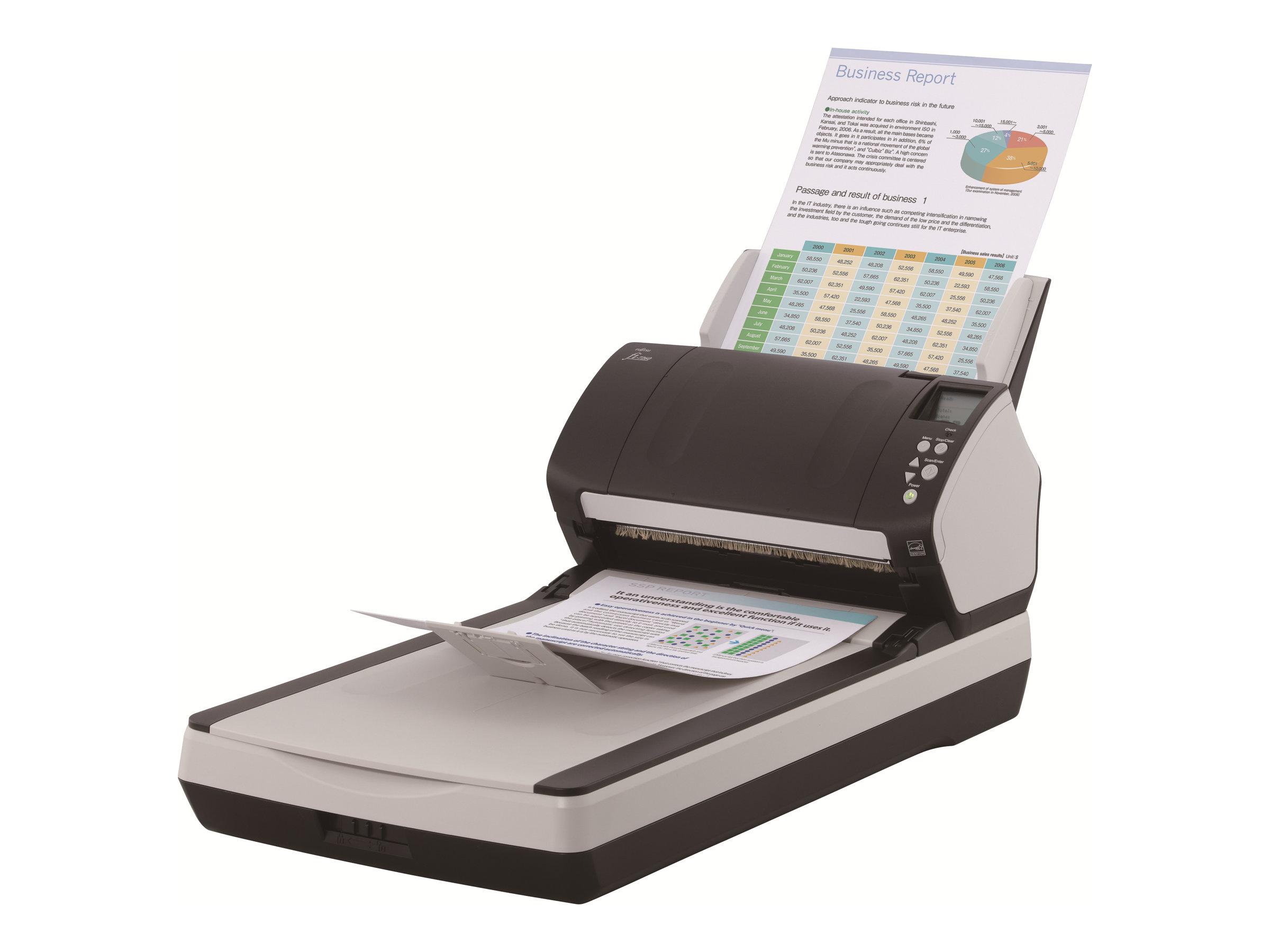 Fujitsu fi-7260 - Dokumentenscanner - Duplex - 216 x 355.6 mm - 600 dpi x 600 dpi - bis zu 60 Seiten/Min. (einfarbig) / bis zu 6