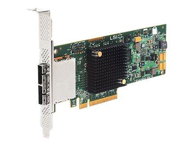 LSI SAS 9207-8e - Speicher-Controller - 8 Sender/Kanal - SATA 6Gb/s / SAS Low-Profile - 6 Gbit/s - PCIe 3.0 x8