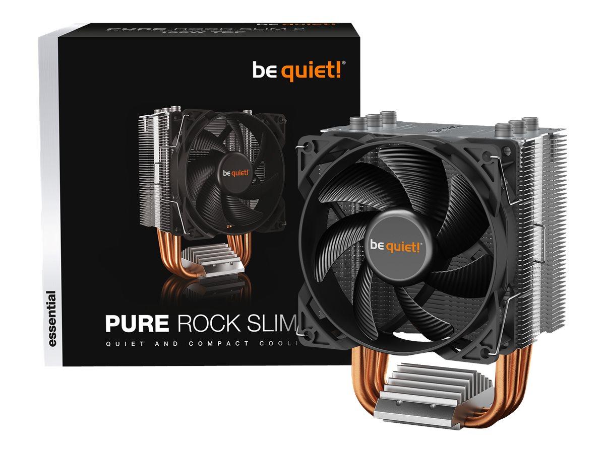 be quiet! Pure Rock Slim 2 - Prozessor-Luftkühler - (für: LGA1155, AM3+, LGA1150, LGA1151, AM4, LGA1200) - Aluminium mit Alumini