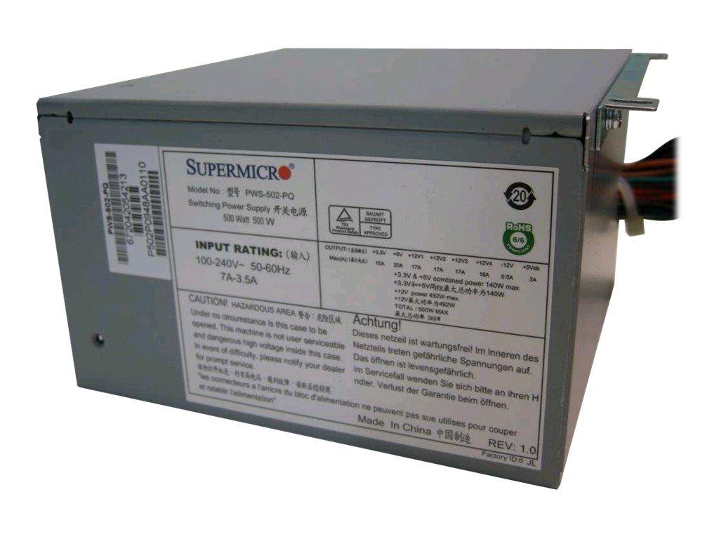Supermicro PWS-502-PQ - Stromversorgung (intern) - ATX12V - 80 PLUS - Wechselstrom 100-240 V - 500 Watt