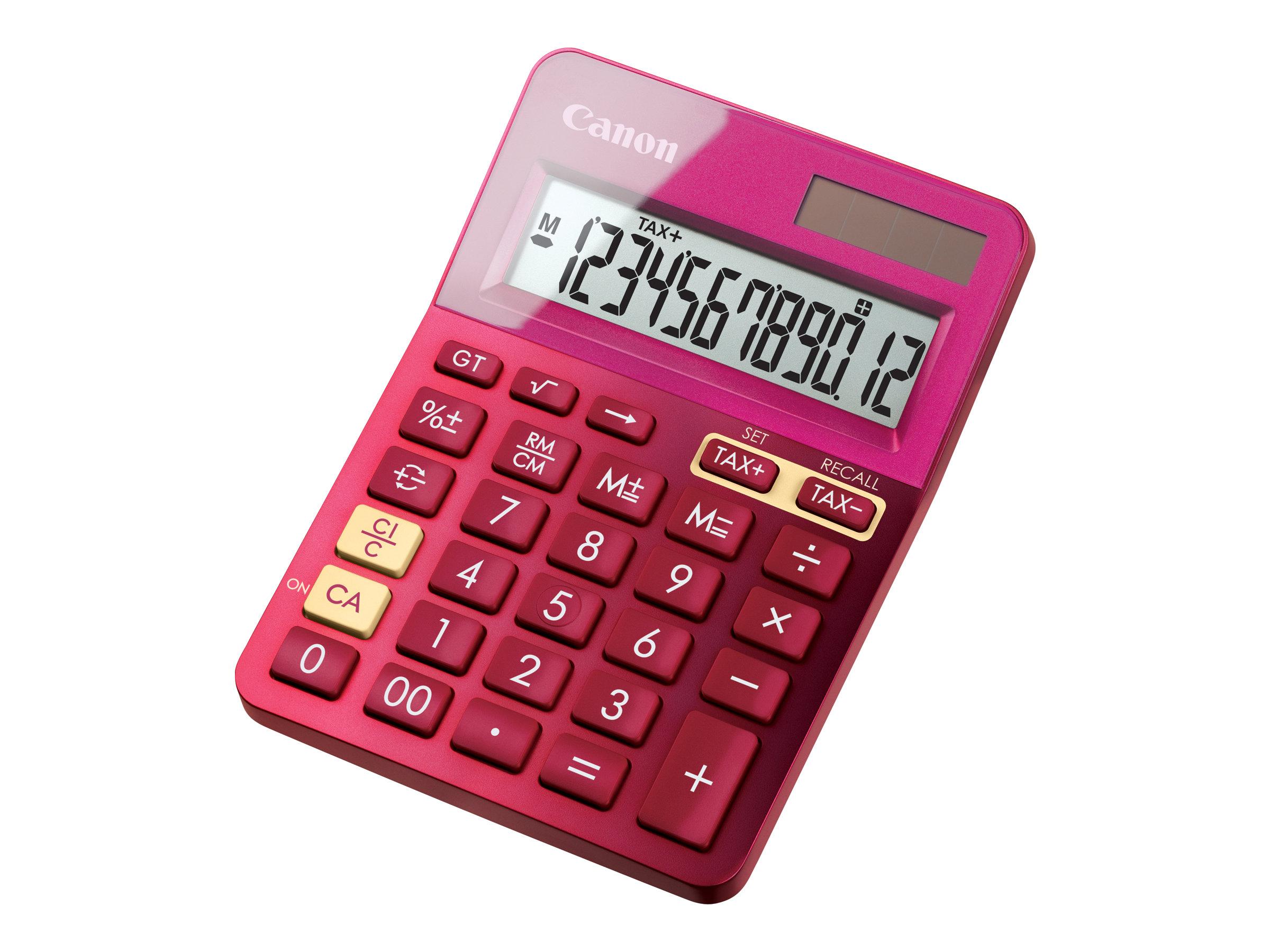 Canon LS-123K - Desktop-Taschenrechner - 12 Stellen - Solarpanel, Batterie - metallisch rosa