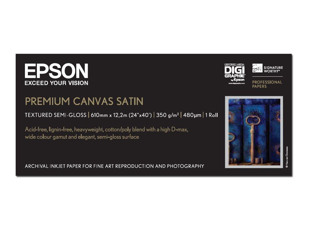 Epson PremierArt Water Resistant Canvas - Glänzend - Rolle A1 (61,0 cm x 12,2 m) - 350 g/m² - 1 Rolle(n) Leinwandpapier - für Su