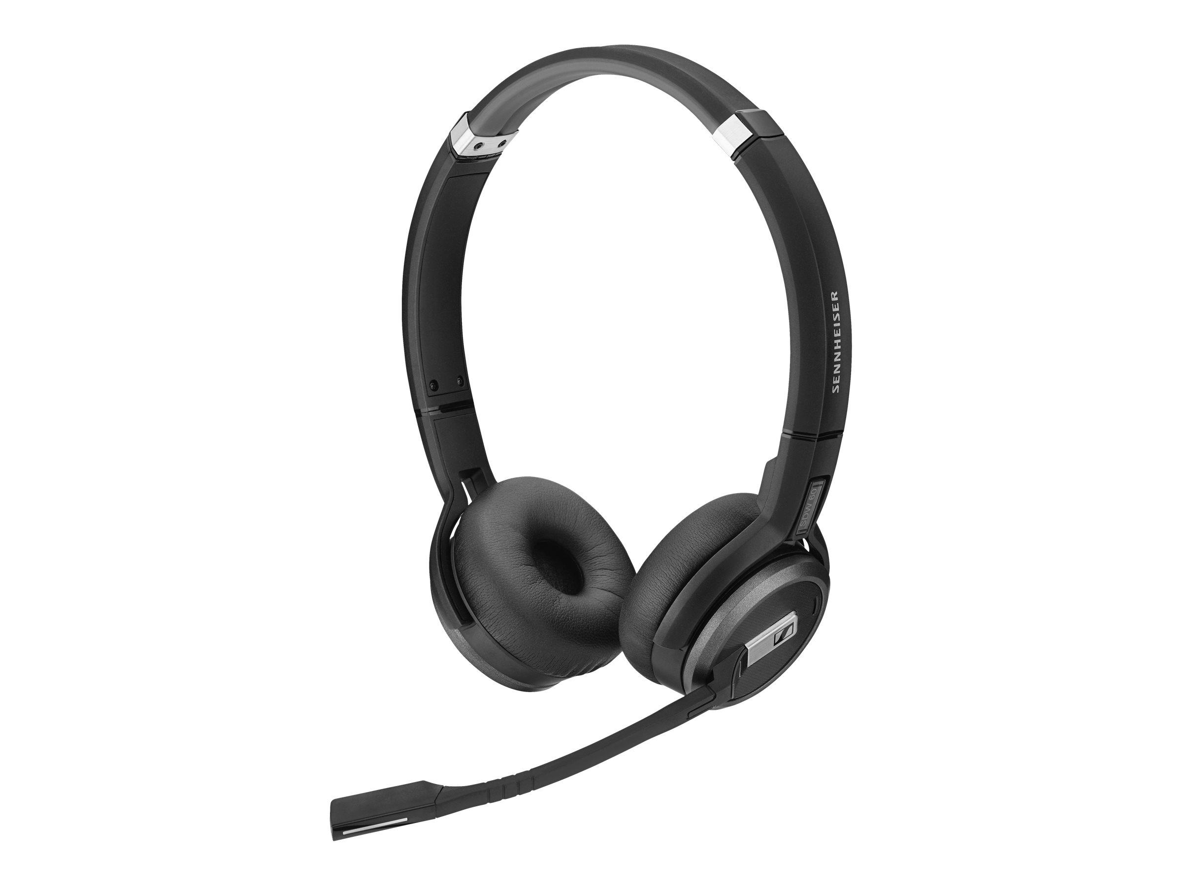 Sennheiser SDW 60 HS - Headset - On-Ear - DECT - kabellos - aktive Rauschunterdrückung