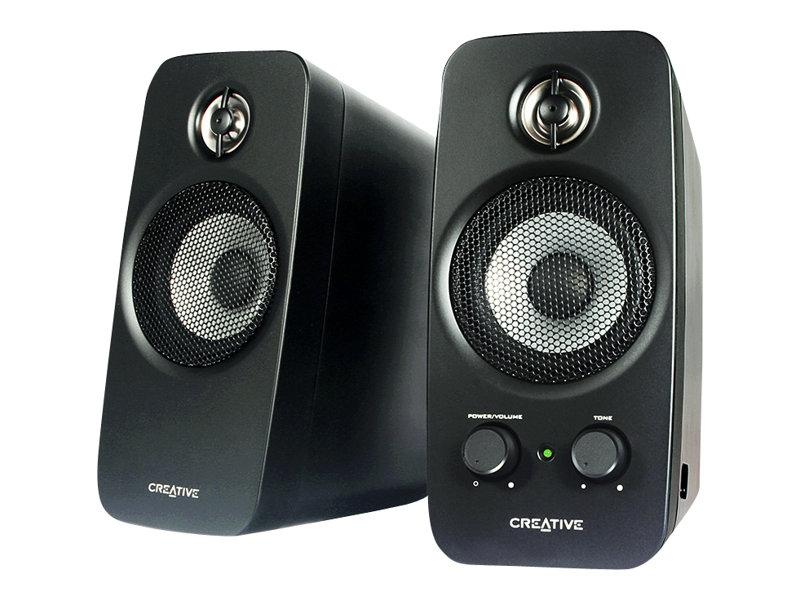 Creative Inspire T10 - Lautsprecher - für PC - 10 Watt (Gesamt) - zweiweg - glänzend schwarz