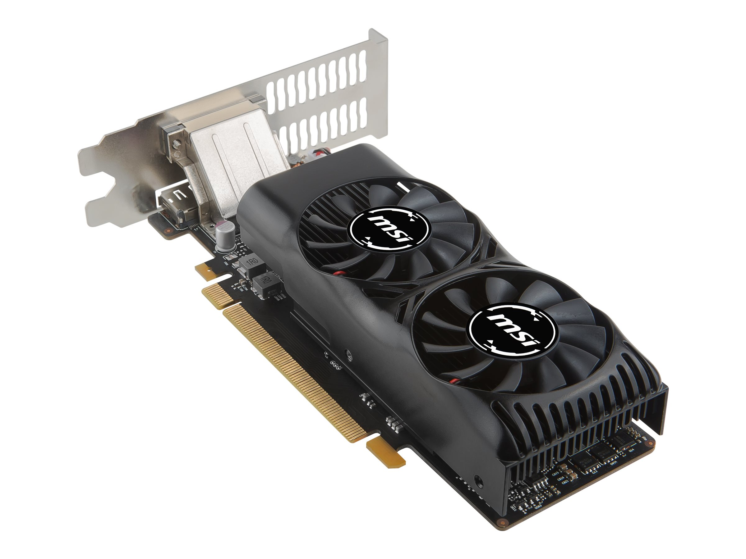 MSI GTX 1050 2GT LP - Grafikkarten - NVIDIA GeForce GTX 1050 - 2 GB GDDR5 - PCIe 3.0 x16 Low-Profile - DVI, HDMI, DisplayPort